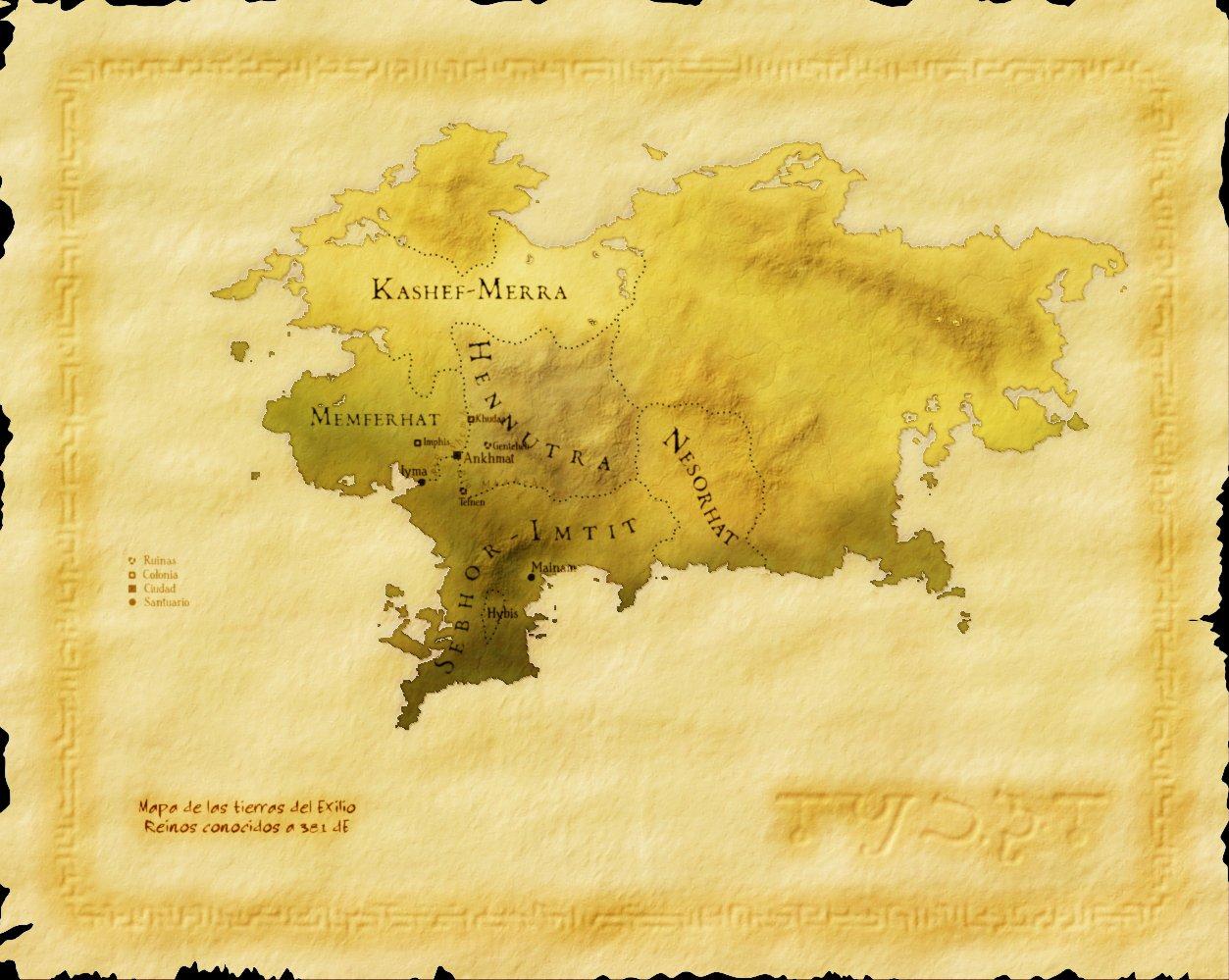 Mapa original del Exilio