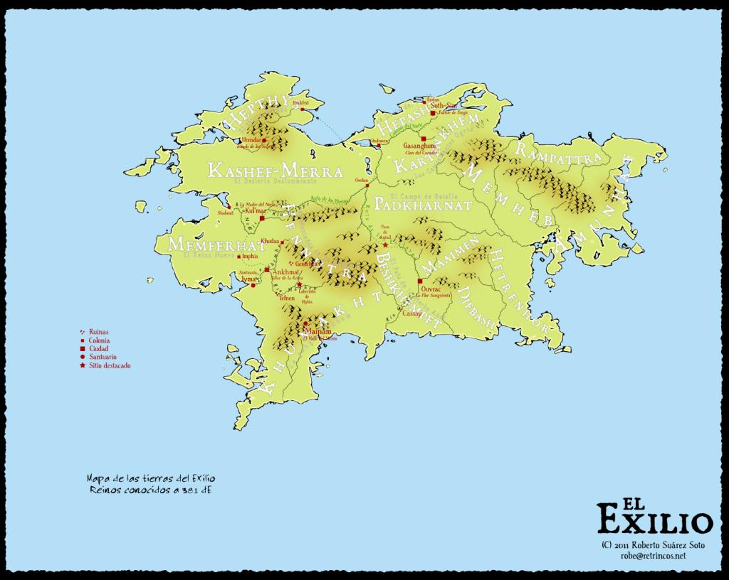 Mapa del Exilio en color, 100dpi