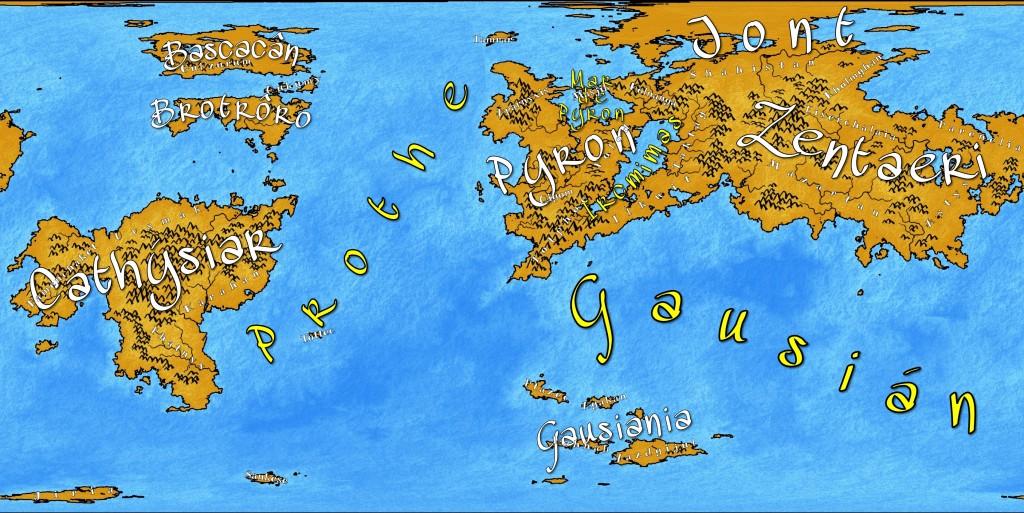 Mapa con todos los nombres introducidos.