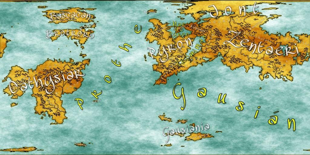 Mapa con sangrado de tinta y brillo del borde de los continentes